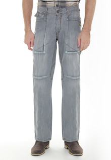 Regular Fit - Jeans - Abu-abu - Aksen Washed