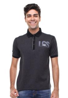 Slim Fit - Kaos Polo - Sablon Logo LGS - Abu