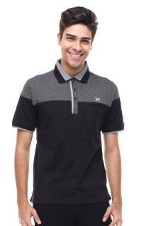 Regular Fit - Kaos Polo - Motif Atas - Hitam