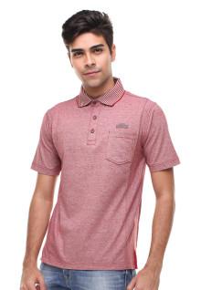 Regular Fit - Kaos Polo - Kerah Salur - Merah