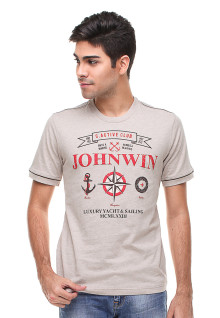 Slim Fit - Kaos Casual - Gambar Sablon - Cream