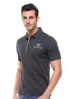 Regular Fit - Kaos Polo - Kantong Depan - Abu