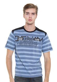 LGS - Slim Fit - Kaos Fashion - Salur - Biru