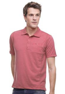 Regular Fit - Kaos Polo Casual - Motif Polos - Kantong Kancing - Merah