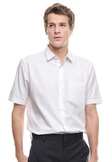 Regular Fit - Kemeja Formal - Lengan Pendek - Putih