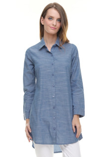 Regular Fit - Kemeja Wanita - Dress - Biru