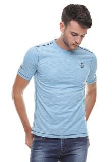 Slim Fit - Kaos Fashion - Logo Dada - Biru Cerah