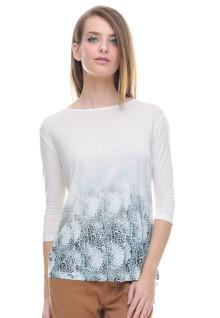 Regular Fit - Kaos Wanita - Gambar Sablon - Putih