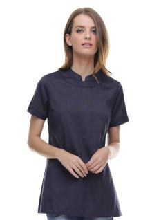 Regular Fit - Kaos Wanita - Sleting Belakang - Hitam