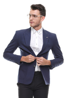 Slim Fit - Formal Suit - Single Vent - Biru Navy