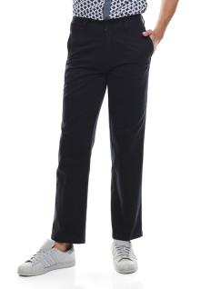 Regular Fit - Celana Katun - Dua Kantong Belakang - Navy