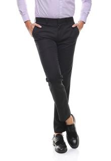 Slim Fit - Celana Formal - Dua Kantong Belakang - Hitam