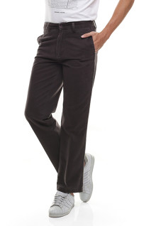Regular Fit - Celana Katun - Dua Kantong Belakang - Coklat