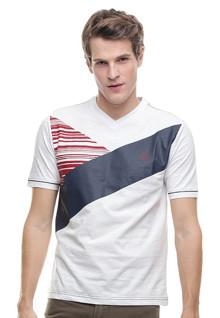 Slim Fit - Kaos Casual - Gambar Sablon - Putih