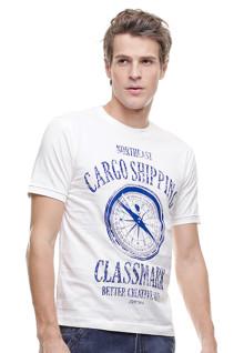 Slim Fit - Kaos Casual Active - Classmark - Putih