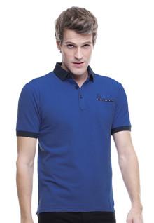 Slim Fit - Kaos Polo - Kerang Tinggi - Biru