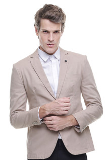 Slim Fit - Formal Suit - Double Vent - Cream