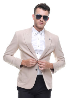 Slim Fit - Formal Suit - Single Vent - Cream