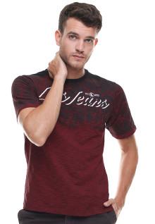 Slim Fit - Kaos Fashion - Logo LGS Jeans - Merah