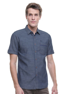 Slim Fit - Kemeja Casual - Model Semi Denim - Abu