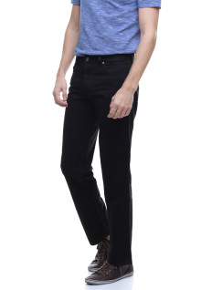 Regular Fit - Celana Katun - Basic - Hitam