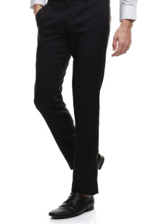 Slim Fit - Celana Formal - Polos - Hitam
