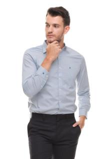 Slim Fit - kemeja Formal - lengan Panjang - Biru