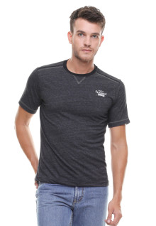 Regular Fit - Kaos Casual - Polos Bertekstur - Abu
