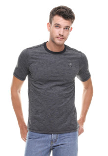 Slim Fit - Kaos Fashion - Polos Bertekstur - Abu