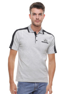 Regular Fit - Kaos Polo - Kerah Tempel - Abu