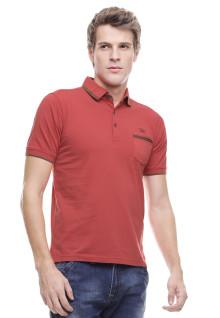 Regular Fit - Kaos Polo Casual - Kantong Satu - Orange