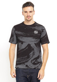 Regular Fit - Kaos Casual - Abstract Printing - Hitam