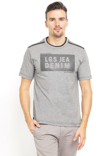 Regular Fit - Kaos Casual - LGS Denim - Abu