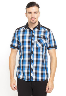 Slim Fit - Kemeja Fashion - Motif Kotak - Single Pocket - Biru