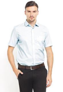 Slim Fit - Kemeja Formal - Lengan Pendek - Biru