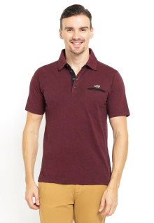 Regular Fit - Polo Shirt - Kancing Tiga - Merah