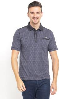Regular Fit - Polo Shirt - Gambar Penuh - Kantong Satu - Abu