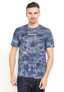 Slim Fit - Kaos Bergambar - Semi Camouflage - Biru