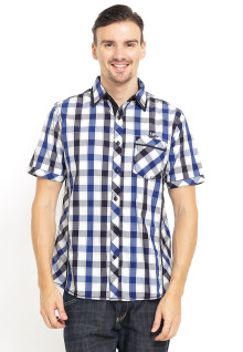 Slim Fit - Kemeja fashion - Motif Kotak Warna - Biru