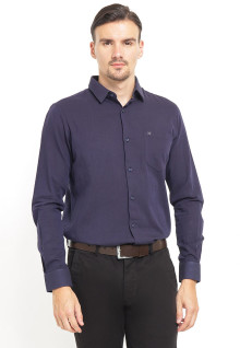 Slim Fit - Kemeja Formal - Lengan Panjang - Navy