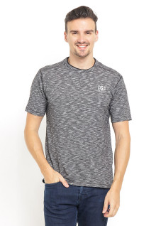 Slim Fit - Printed Tee - Logo LGS - Black Collar - Abu