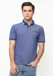 Regular Fit - Kaos Polo - Rubber Cuff - Biru
