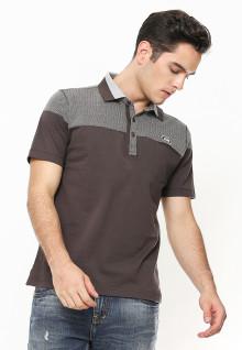 Regular Fit - Polo Shirt - Two Tone Color - Coklat