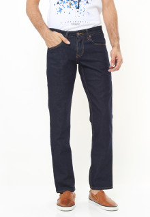 Regular Fit - Premium Jeans - Basic Model - Biru Navy
