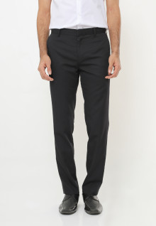 Slim Fit - Formal Pants - No Biku - Double Back Pocket - Hitam