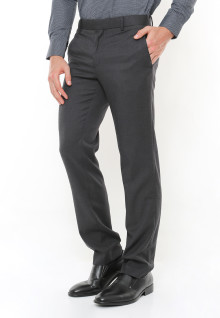 Slim Fit - Celana Formal - Two back Pocket - Abu