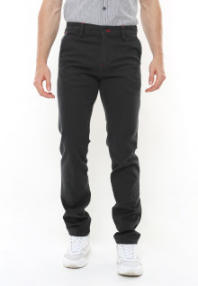 Slim Fit - Casual Active - Strecth - Chinos - Motif Kantong - Hitam