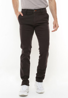 Slim Fit - Casual Active - Strecth - Chinos - Motif Kantong - Coklat