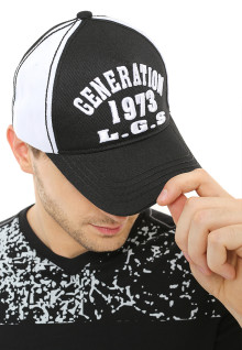 Topi Fashion - Two Tone Color - Logo LGS - JCA.443.289.333.C - Hitam