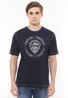 Regular Fit - Kaos Casual - Gambar Sablon Logo LGS - Hitam